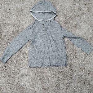 Crewcuts Gray Hoodie with Buttons